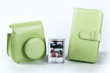Fujifilm Instax Mini 9 Accessory Kit - Case, Album & Photo Frame - Lime Green